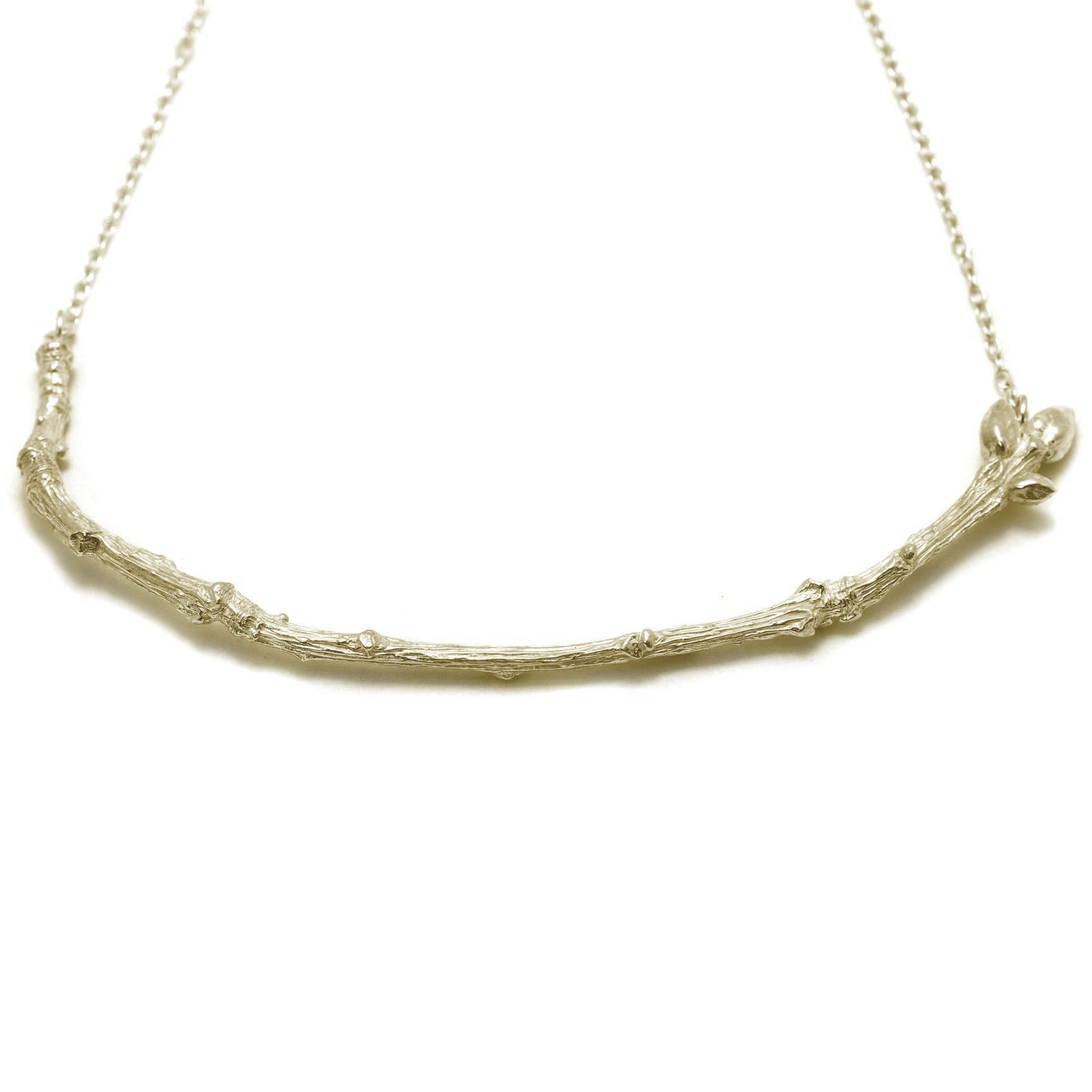 Textured Twig Necklace
