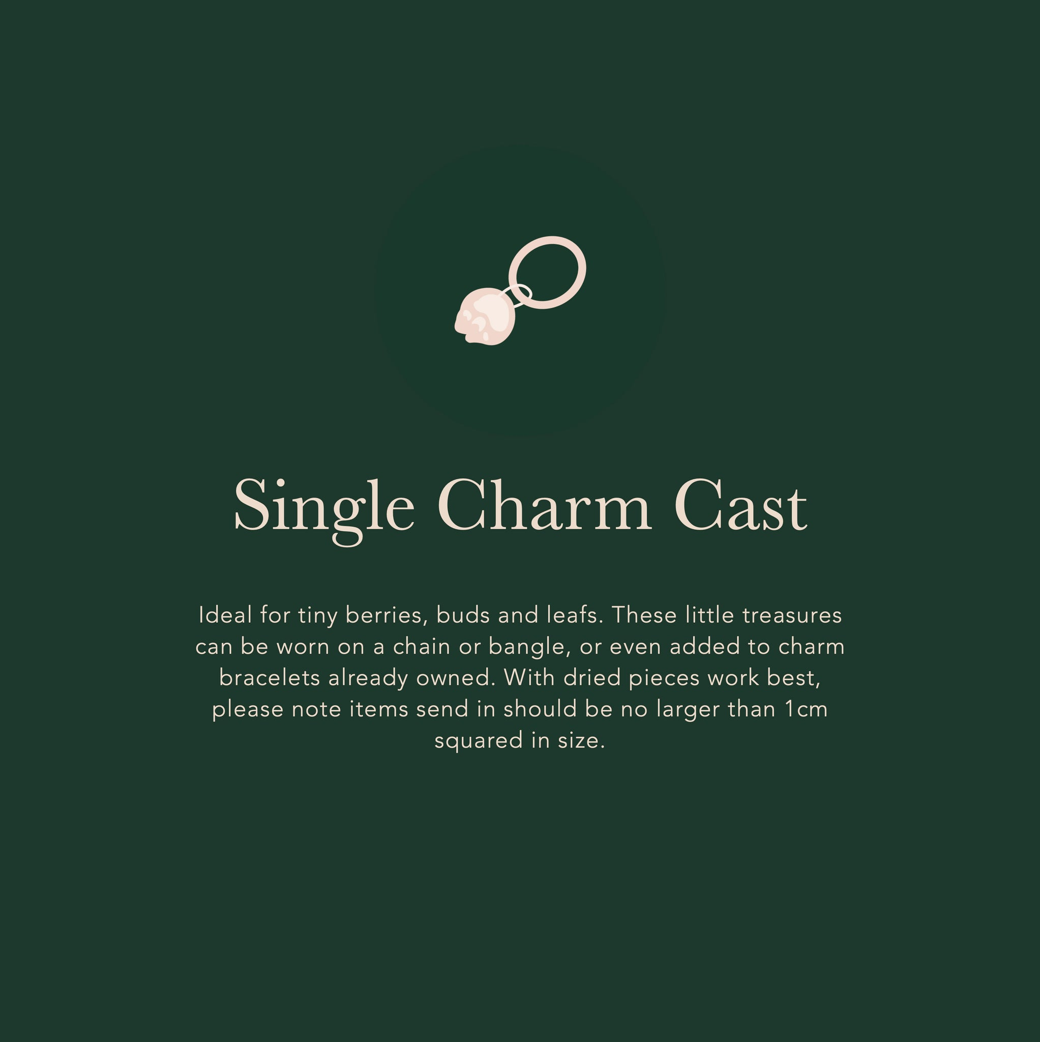 Single Charm Cast - Create