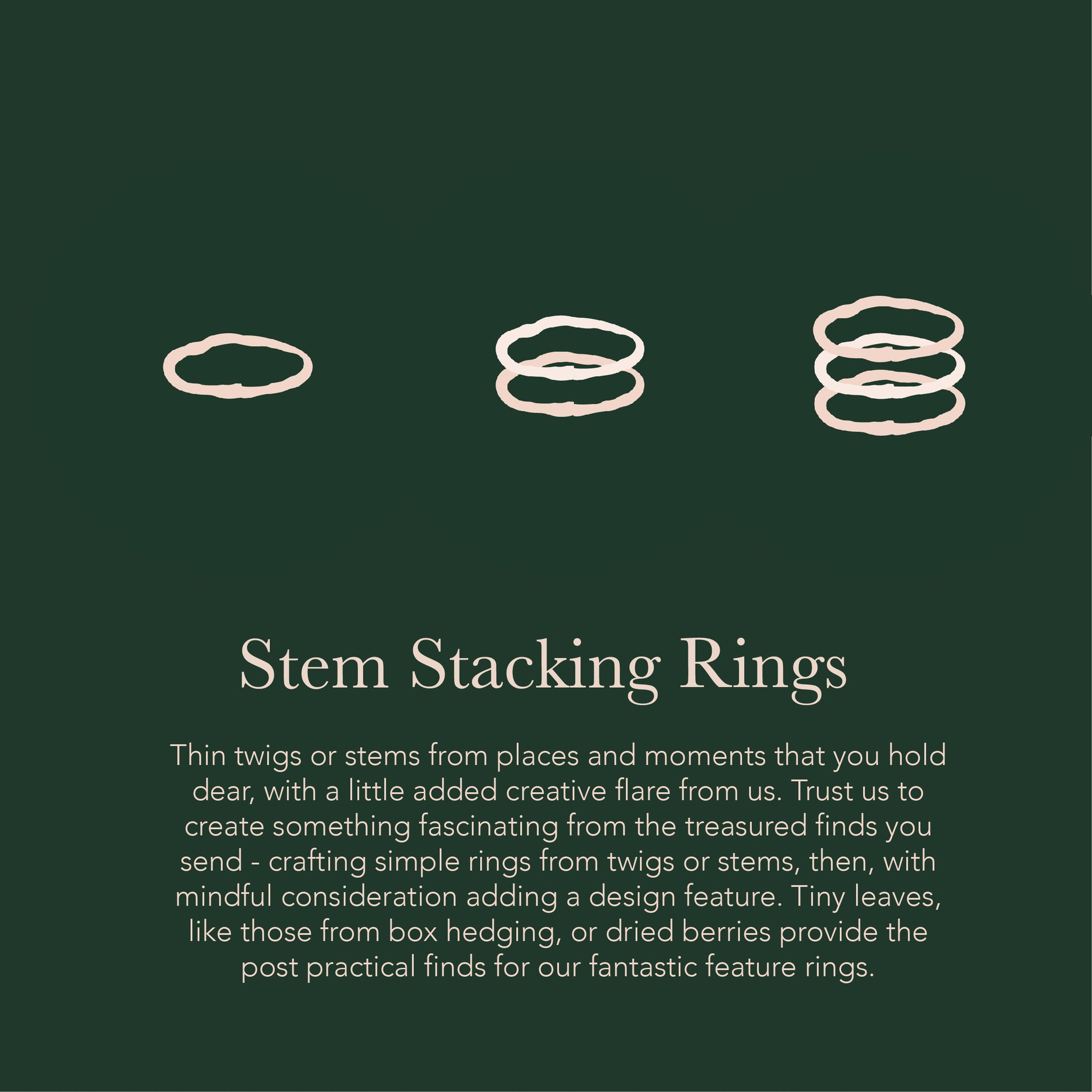 Stem Stacking Ring - Medium  - Create