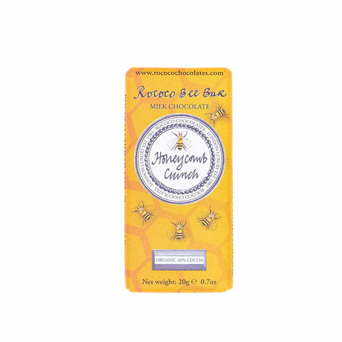 ROCOCO HONEYCOMB CRUNCH MILK CHOCOLATE BEE BAR 40%