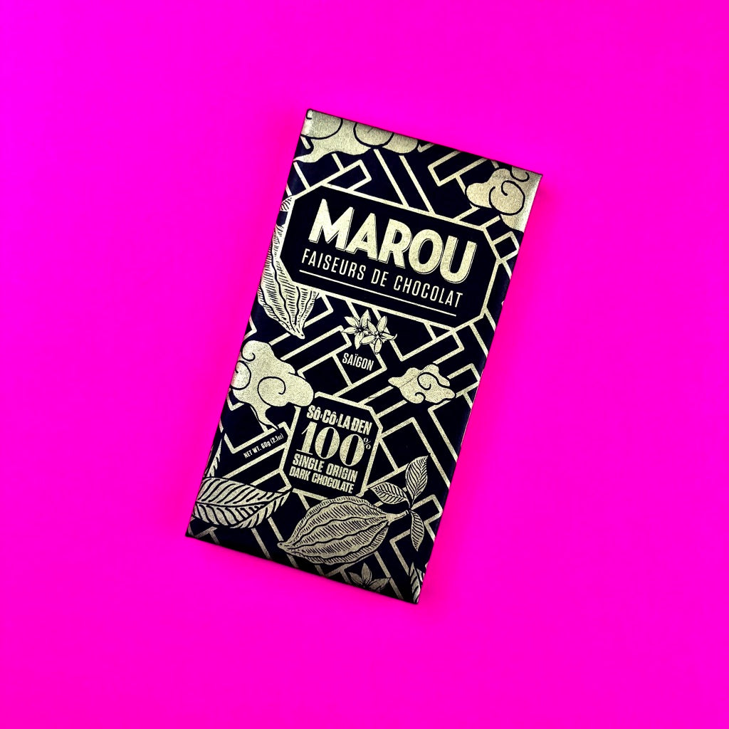 Marou Chocolate 100% Dark Chocolate Bar
