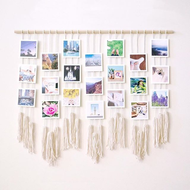 macrame photo display