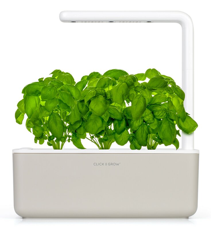Click & Grow Smart Garden 3 Indoor Herb Garden (Includes Basil Plant Pods), White