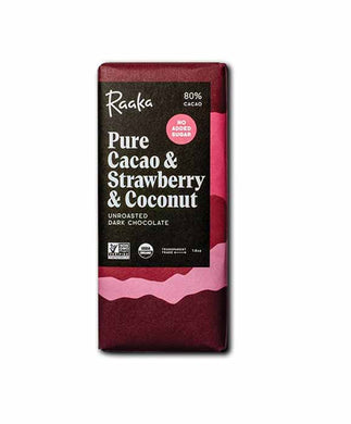 Raaka Pure Cacao & Strawberry & Coconut 80%