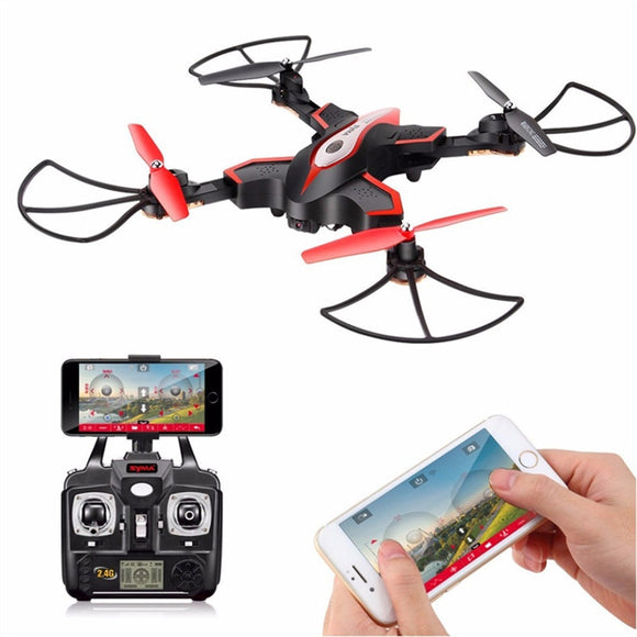 X56W RC Quadcopter Foldable RC Drone with HD WIFI 0.3M Camera FPV 4CH Headless Mode
