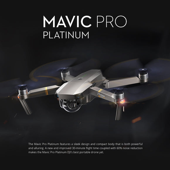 DJI Mavic Pro Platinum Flymore combo with 4K Camera OcuSync Live View System