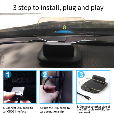 Image of C1 Car Head-Up Display OBD+/GPS Dual Systems