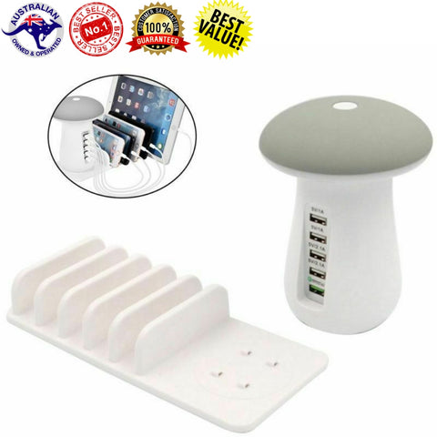 Image of 5 in 1 Multi-Port Mushroom USB Charging Station