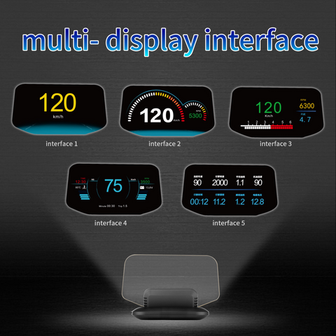 C1 Car Head-Up Display OBD+/GPS Dual Systems