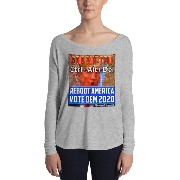 Long Sleeve Anti Trump Shirt  for Women | Anyone But Trump Long Sleeve Tee