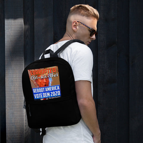 Anti-Trump Back Pack | Anyone But Trump CTRL-ALT-DEL - REBOOT AMERICA Backpack
