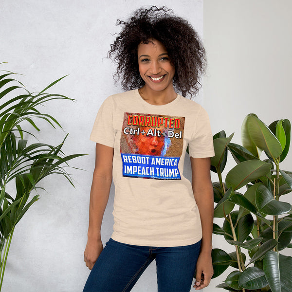 Ctrl-Alt-Del Vote Blue Anti- Trump Unisex Tee Shirt