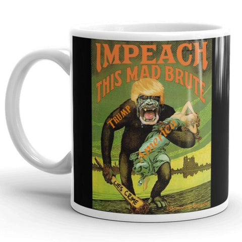 Impeach This Mad Brute Anti-Trump Coffee Mug, Black