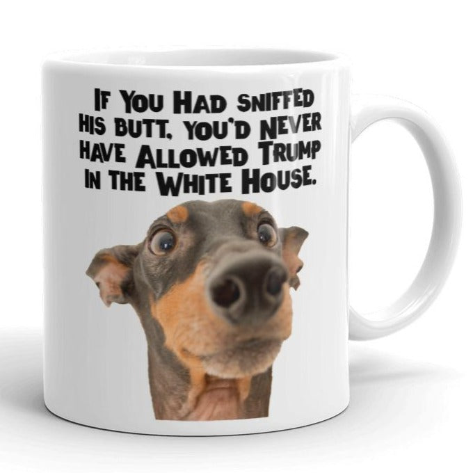 Why'd You Let Trump in the White House?? Anti-Trump Coffee Mug