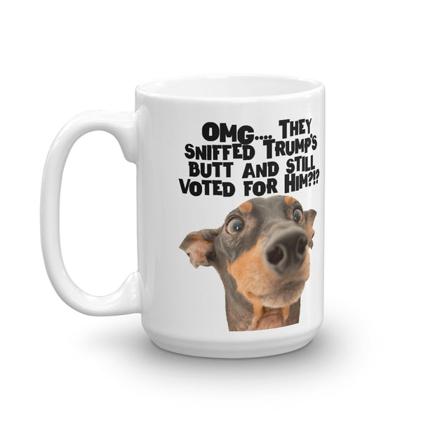 OMG - They Sniffed Trump's Butt and Still Voted for Him?!? Anti-Trump Coffee Mug