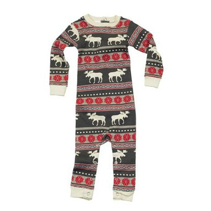 Lazy One Moose Fair Isle Union Suit