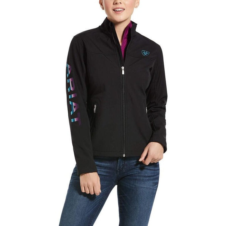 New Team Softshell Jacket-BLACK/SERAPE