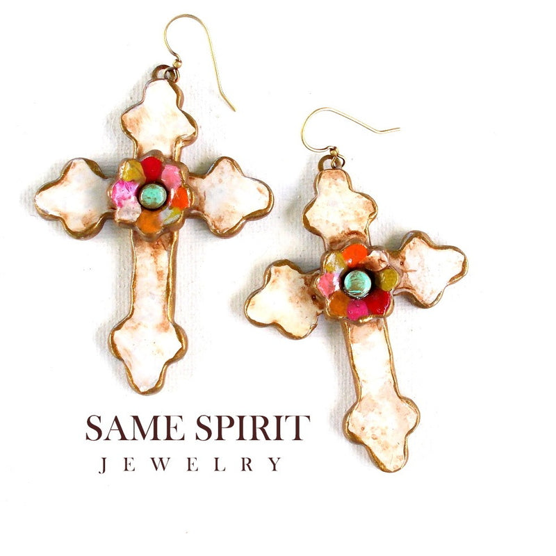 Summer Cross With Hippy Flower