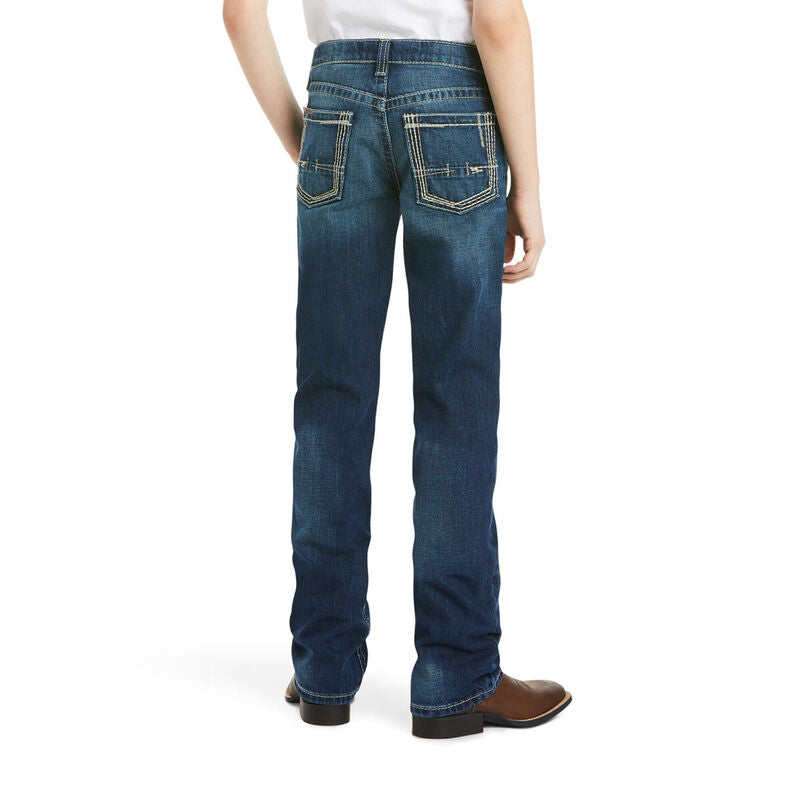Ariat Boy's B5 Slim Boundary Stackable Straight Leg Jean