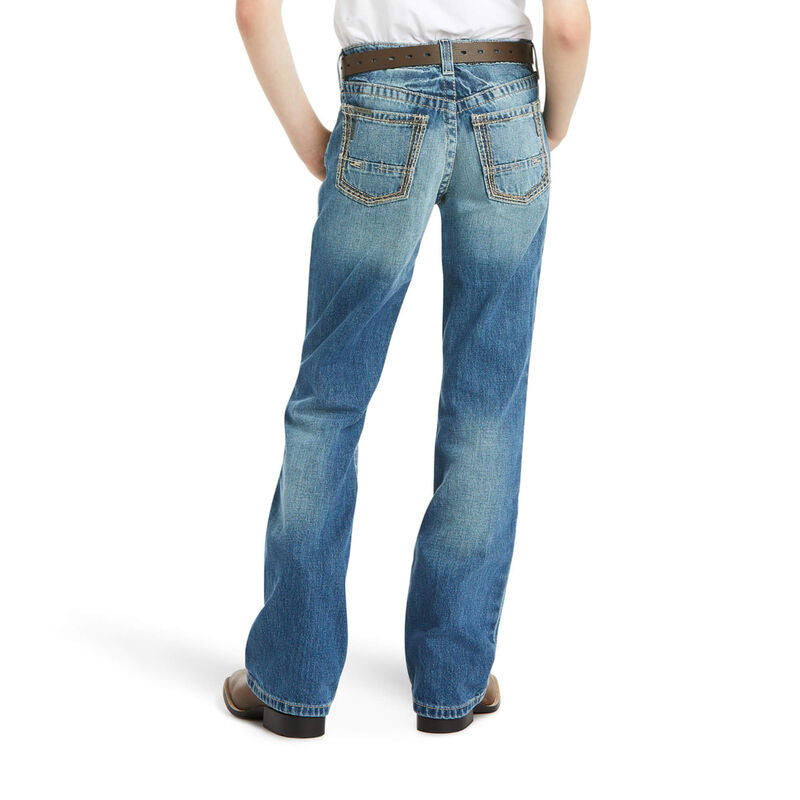 Ariat Boy's B4 Relaxed Boundary Boot Cut Jean