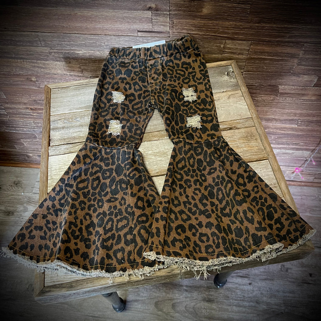 Leopard Distressed Kids Bells