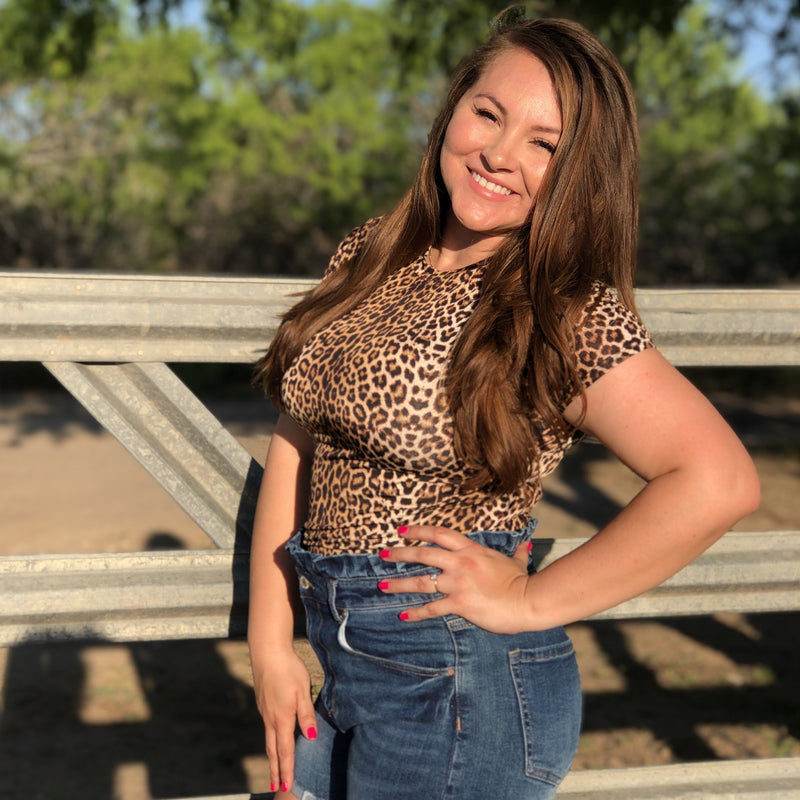 Leopard Short Sleeve Body Suit