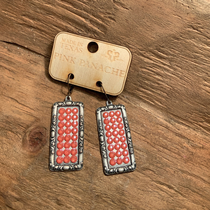 Silver Rectangle Earring