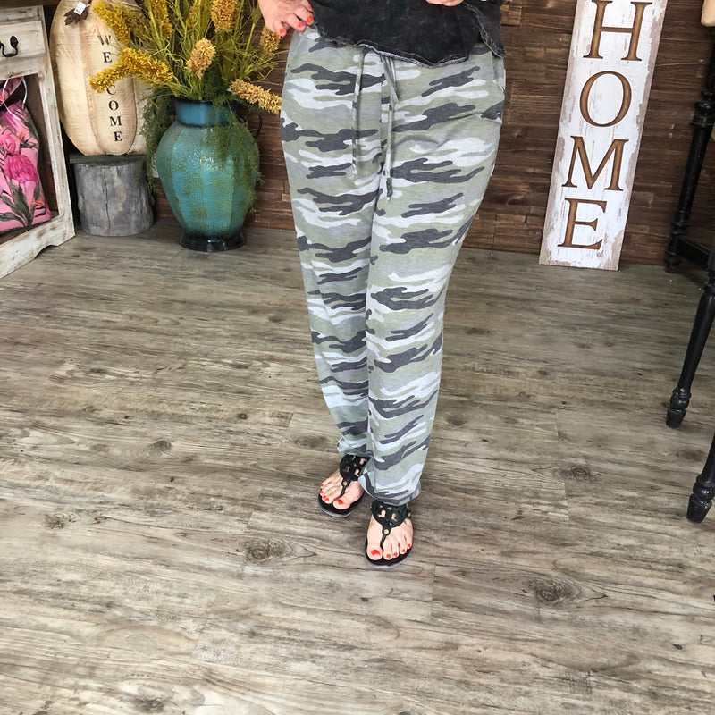Lounge in Camo Pants