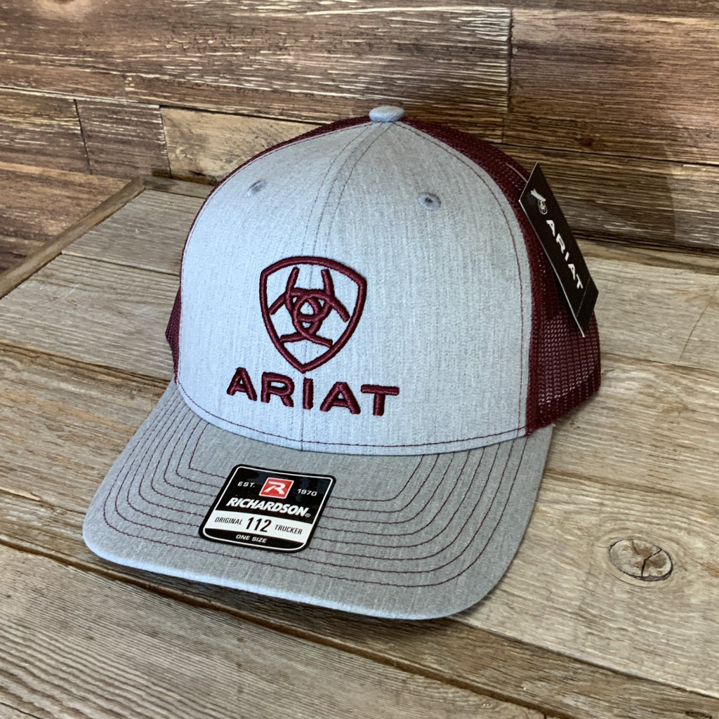 Grey / Maroon  Ariat Cap - A300012009