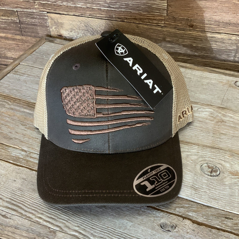 Brown / Khaki Ariat Cap- A300012102