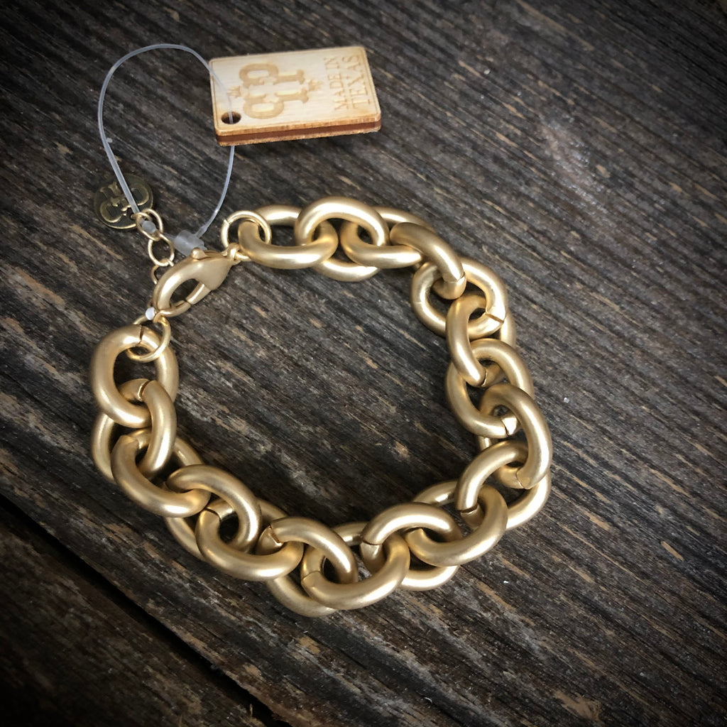 Chain Link Bracelet With Adjustable Chain