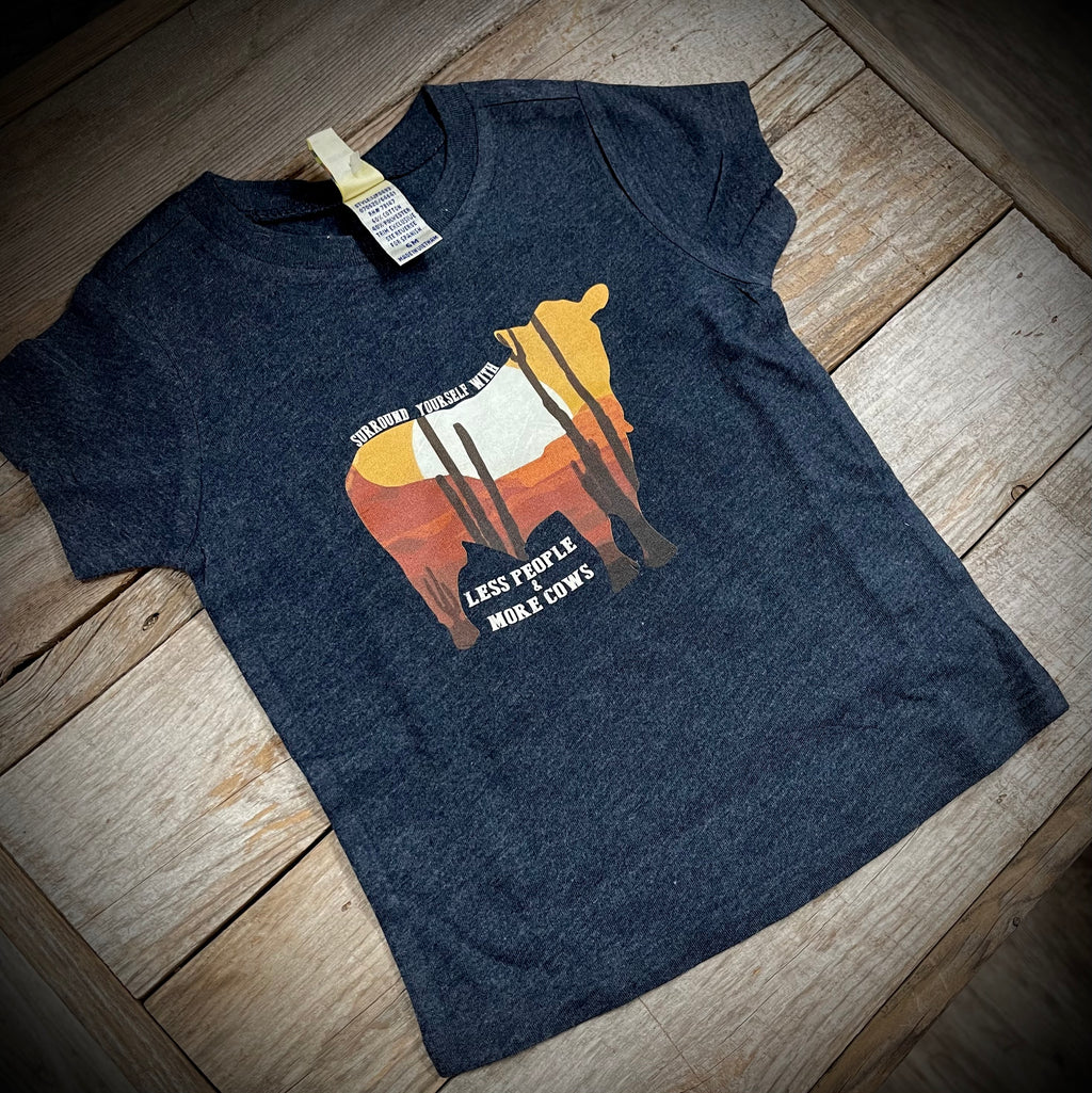 Less People & More Cows Toddler Tee