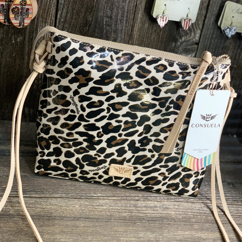 Mona Brown Leopard Downtown Crossbody
