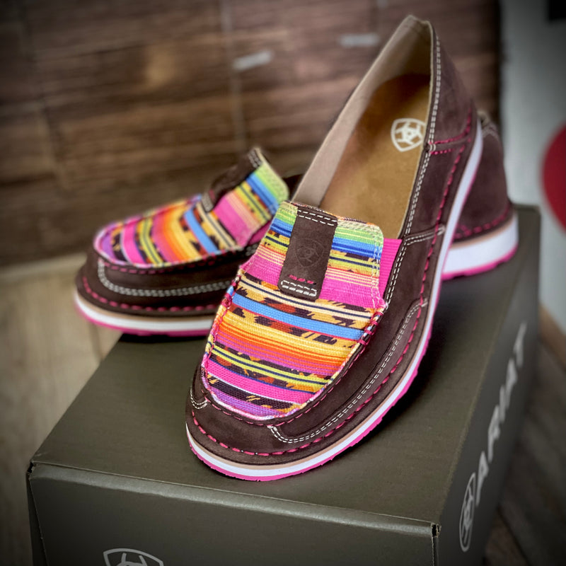 Coffee Bean Suede Cheetah Serape Cruiser