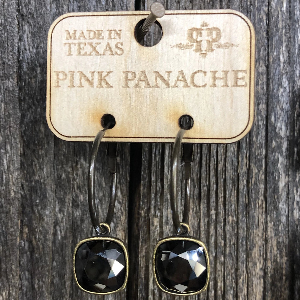Pink Panache Black Cushion Cut