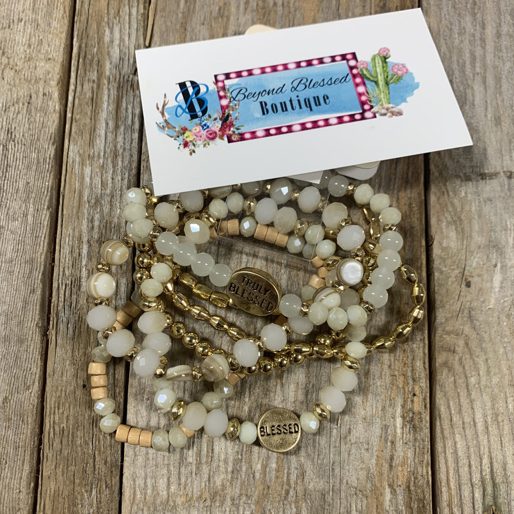Truly Blessed Charm Mixed Bracelets