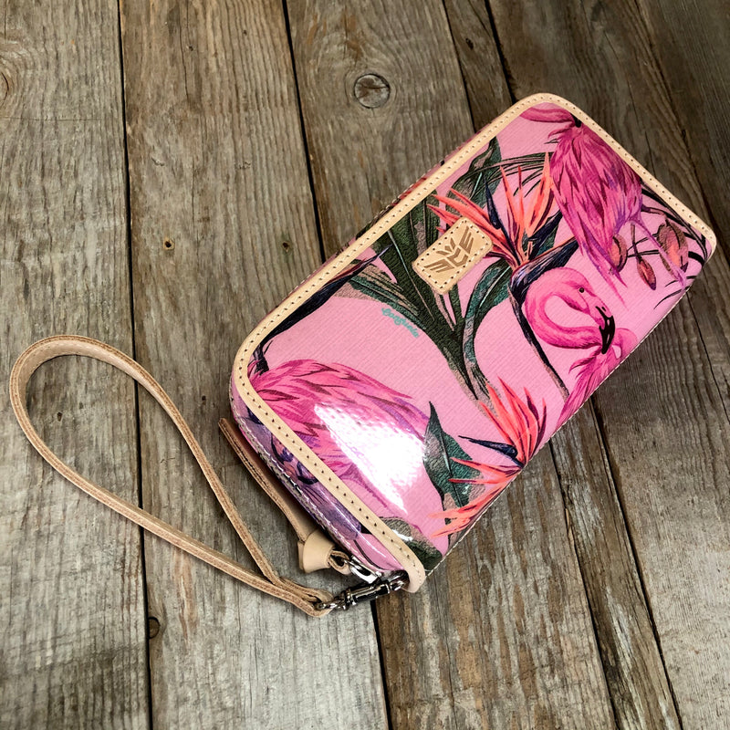 Brynn Flamingo Wristlet Wallet (Missing Wristlet Strap)