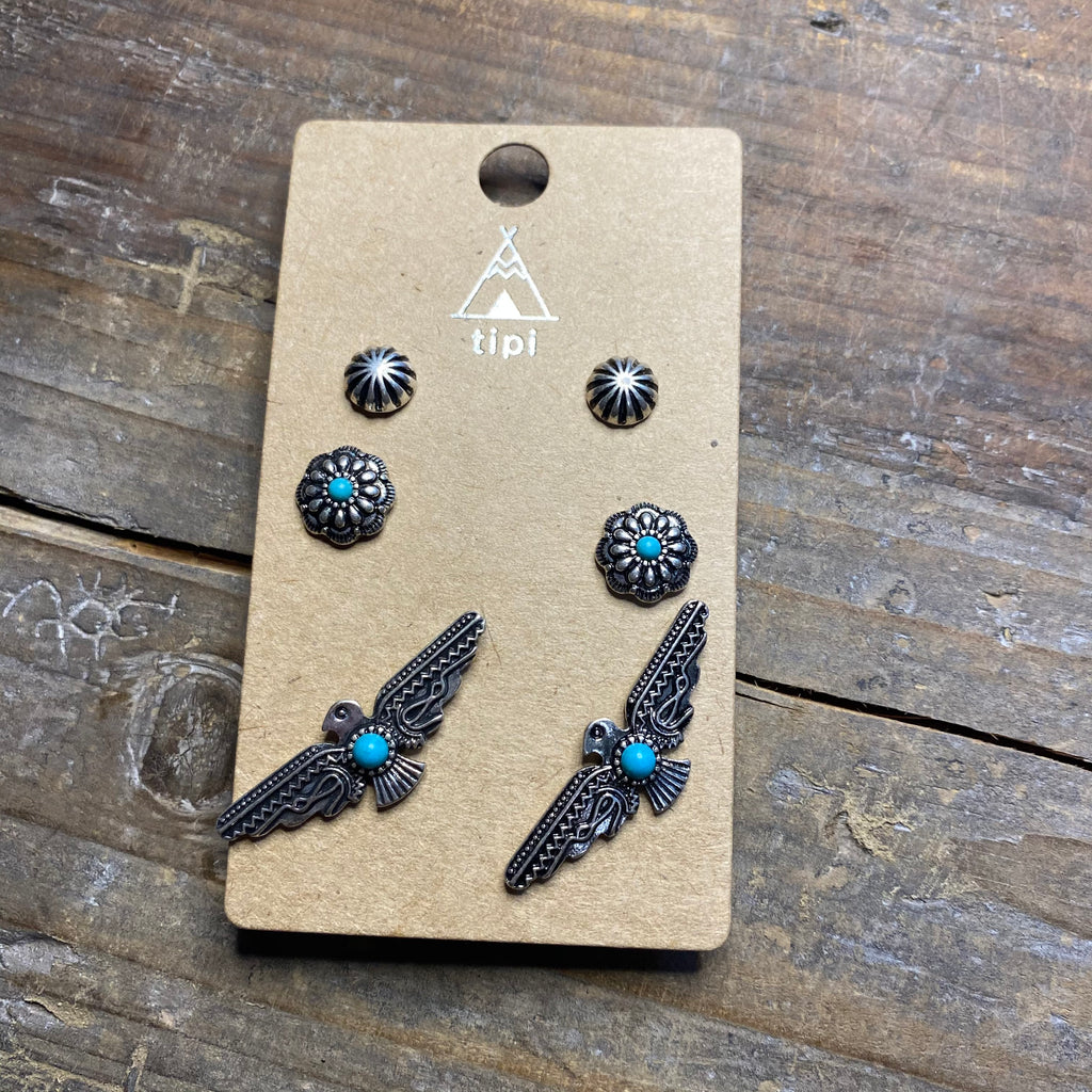3-pack Turquoise Earring