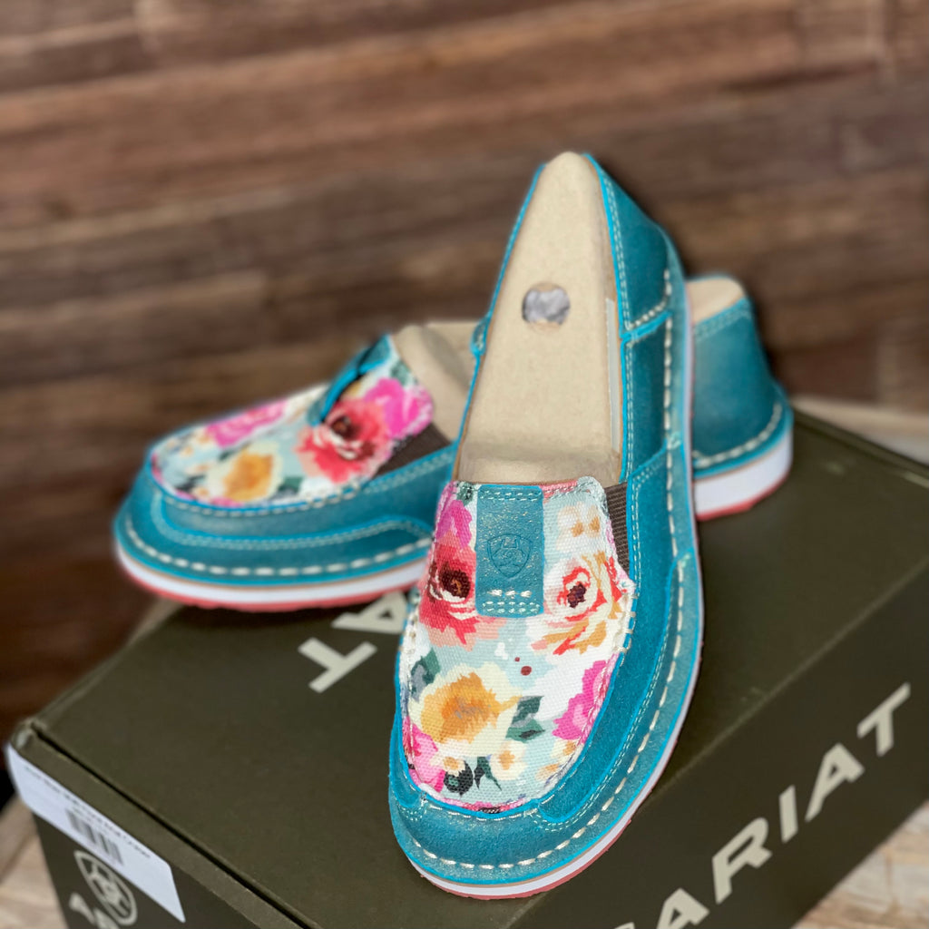 Pool Blue/ Multi Floral Ariat Cruiser