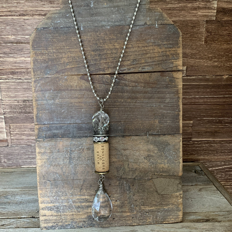 Wine Cork Necklace