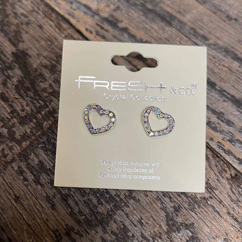 Heart Earring With Crystals