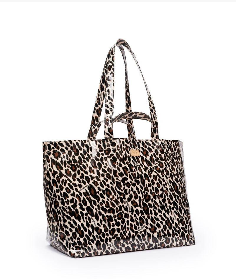 Mona Brown Leopard Grab n Go Jumbo Bag