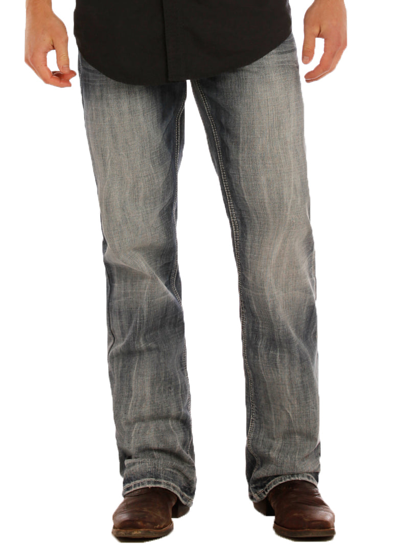ROCK & ROLL DENIM Relaxed Fit Double Barrel Straight Leg Jeans