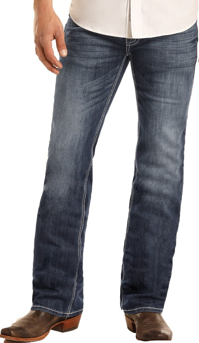 ROCK & ROLL DENIM Regular Fit ReFlex Pistol Straight Leg Jeans