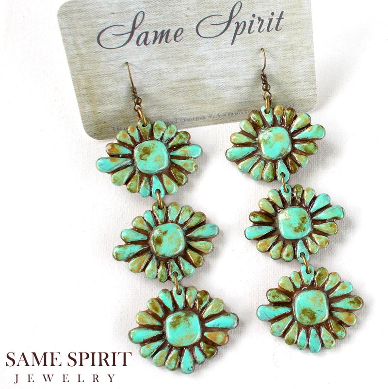 Tres Turquoise Earrings