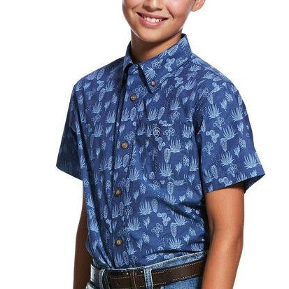 Tavares Print Classic Fit Shirt- Boys