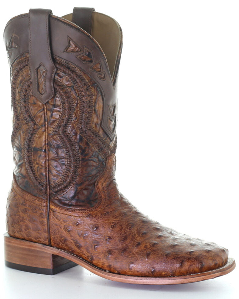 Corral Men's Ostrich Overlay Exotic Boots