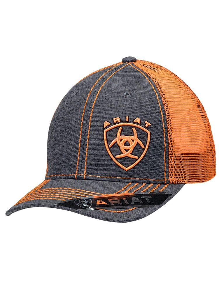 Bright Orange and Grey Men's Cap 1595126