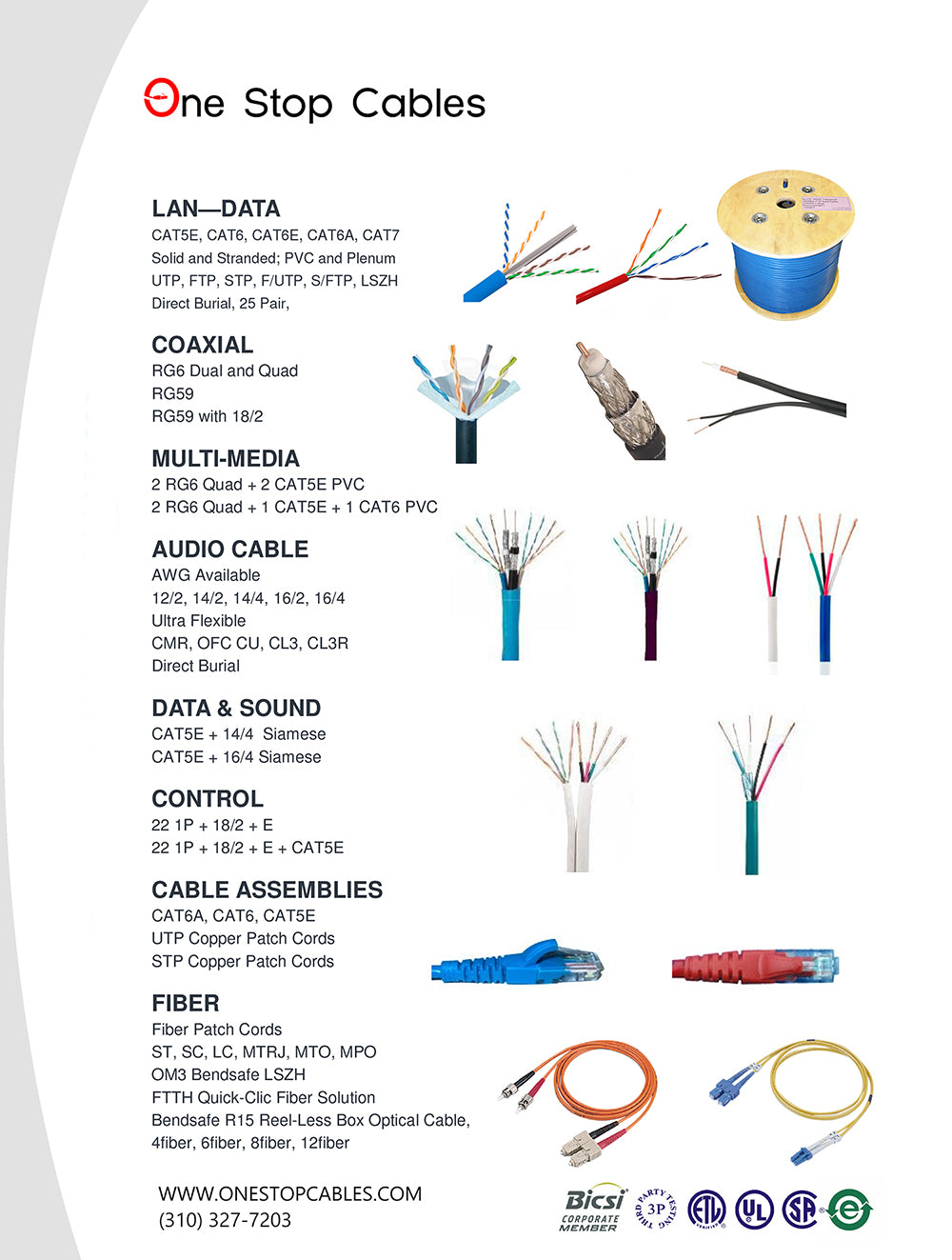 One Stop Cables Line Card