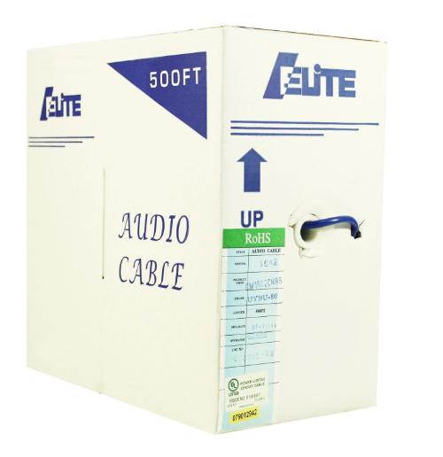 audio cable 16 gage 2 conductor 500 feet bulk
